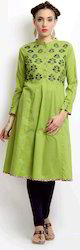 Superb Screen Print With Embroidery Kurti