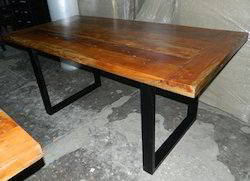 Vintage Industrial Loft-Style Dining Table