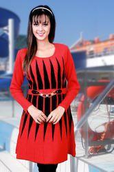 Red Woolen Fancy Top