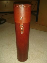 Leather Scroll Tube For Scroll Invitation