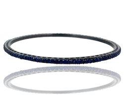 blue sapphire studded bangle
