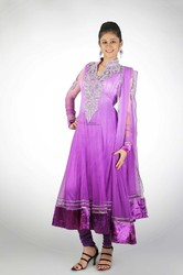Lilac Ombre Shaded Anarkali