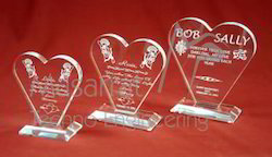 Acrylic Heart Trophy