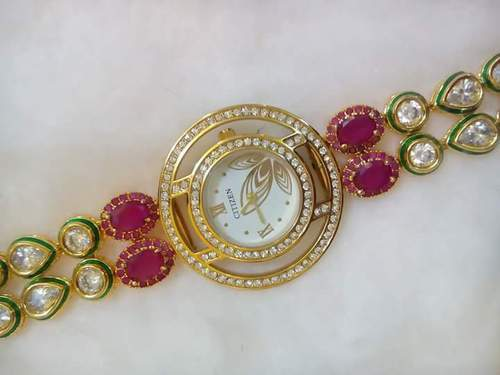Ladies Kundan Watch
