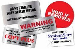 Tamper Security Sticker