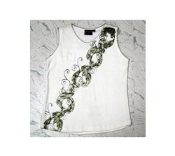 Girls Printed Sleeveless T Shirts