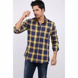 Stylish Cotton Check Mens Shirts