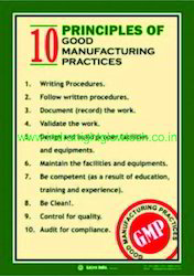 Good Manufacturing Practices Poster