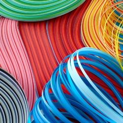quilling paper strips in assorted colors