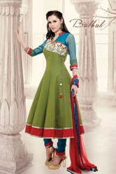 Beautiful Design Light Green Colour Salwar Kameez