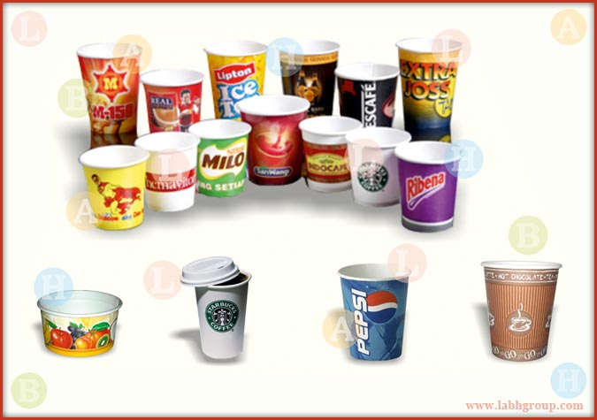 Printed Paper Cups with PE Coating