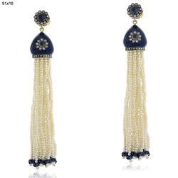 Pearl Tassel Dangle Earring