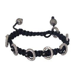 Sterling Silver Beads Macrame Bracelet