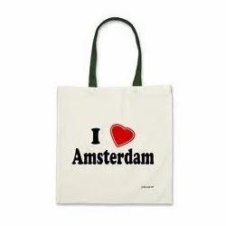 I Love Amsterdam Printed Calico Bag