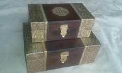 Wooden Boxes with Metal Work