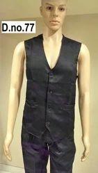 Plain Black Restaurant Waistcoat Uniforms
