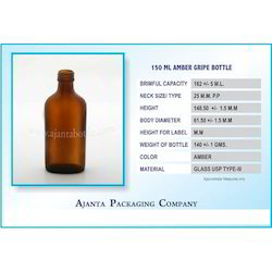 150 Ml Amber Gripe Bottle
