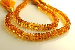 Aaa Quality Golden Citrine Faceted Rondelles Strand 9 '''