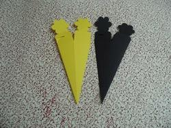 Black And Yellow Favor Cone Boxes For Chocolate Packaging