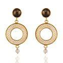 Pearl Beads 925 Sterling Silver Disc Dangle Earrings Jewelry