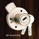 Multipurpose Round Glass Lock