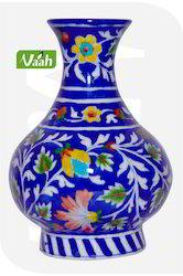 Vaah Decorative Blue Pottery Flower Vase