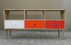 wooden 3 drawer tv cabinet