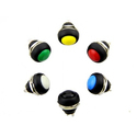 12 Mm Domed Push Button Pack