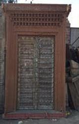Antique Door with Carved Frame