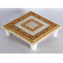 Handcrafted Marble Chowki