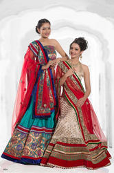 Bridal Double Color Lehenga Designer Sarees