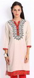Flex Fabric Based Kurta with Embroidery