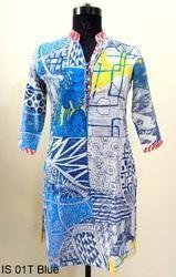 IS 01T Blue Cotton Kurtis