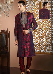 sherwani suit lustrous purple