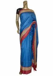 Light Blue Colour Tussar Sarees