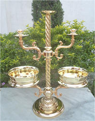 Bowl with Candle Holders