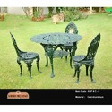 Cast Aluminum Antique Outdoor Chair Set
