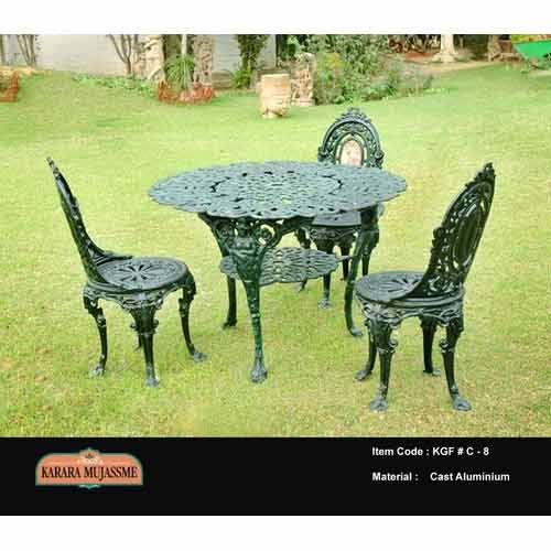 Cast Aluminum Antique Outdoor Chair Set
