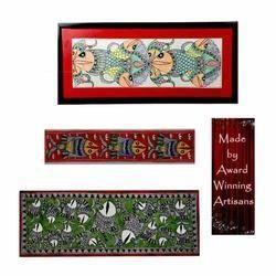 Madhubani Paintings - Folk Painting - Fish Motifs