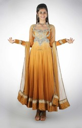 Neon Sheer Back Anarkali