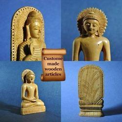 Hand Carved Wooden Buddha