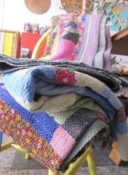 Vintage Patchwork Sari Kantha Quilt