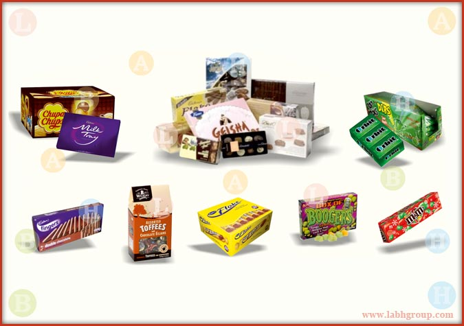 Printed Folding Carton Box for Confectionery Products