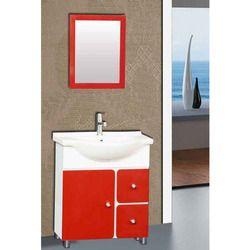 Red white Floor Mounted Vanities Cabinets