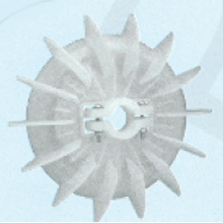 Plastic Fan Suitable for KO 132 Frame Size