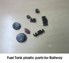 fuel tank plastic parts for railway