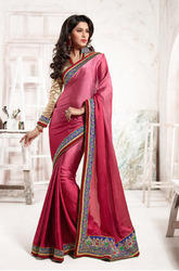 Classic Satin Georgette Party Wear Sarees