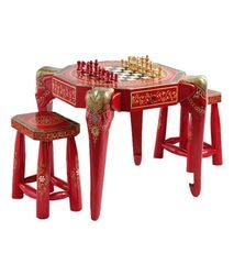 Vaah Wooden Chess Table