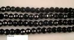 Black Onex Faceted Beads