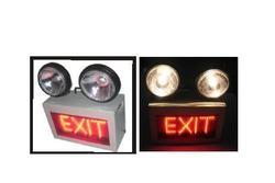 Emergency Light With LED Signage Double Beams